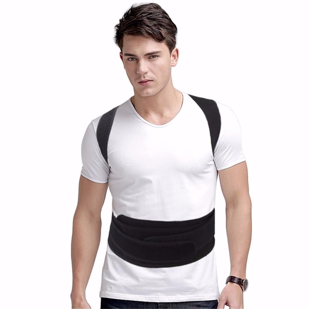 Aofeite  B003 orthopedic belt for back back posture Belt Round Shoulder Back Brace adjustable posture corrector men 1