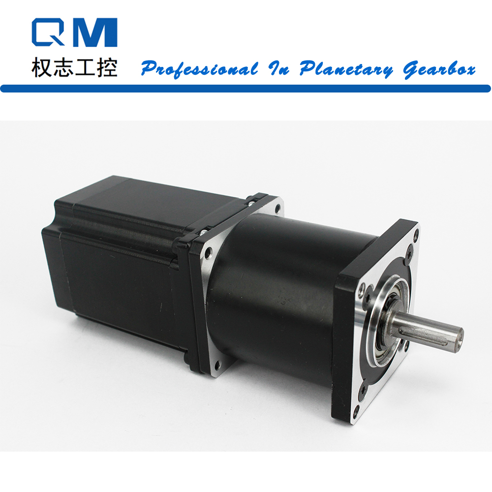 Planetary reduction gearbox ratio 20:1 with nema 23 stepper motor L=77mm cnc robot pump high quality 5n m 42 42 119 7mm brushless dc motor with planetary gearbox reduction ratio 104 8