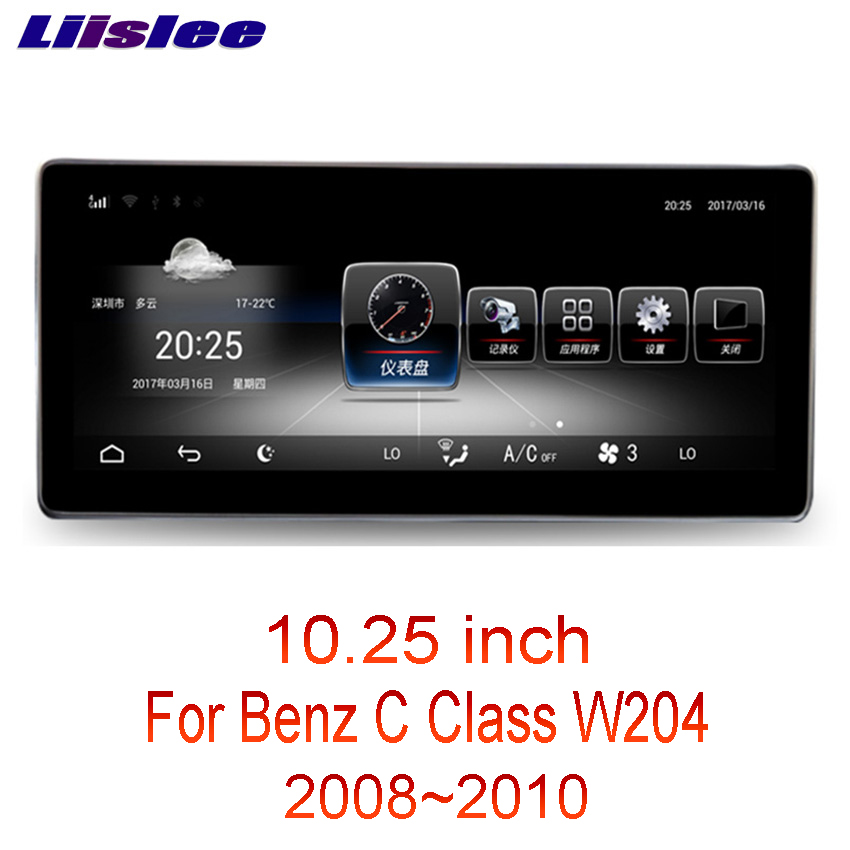 Liislee 10.25 Android For Mercedes Benz C Class W204 2008~2010 touch screen GPS Navigation radio stereo dash multimedia player