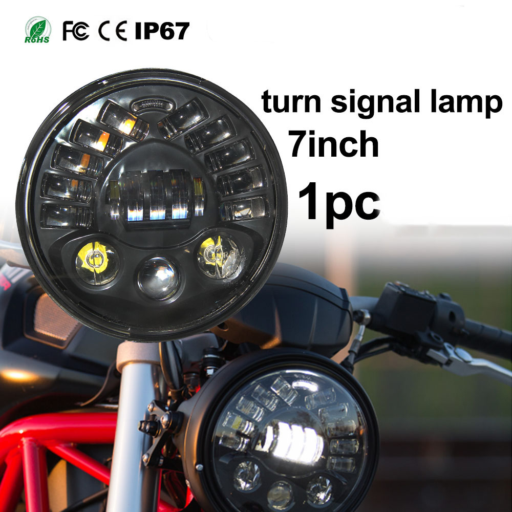 CO LIGHT Motorcycle Headlight 7 inch 70w 40w Led Chip High Low beam IP67 Auto Fog Lights for 4x4 Lada Niva UAZ lyc 3 5 4 led fog light 24 volt hid lights fog light for honda fit 12v led car light ip 67 1800lm korea high power led chip