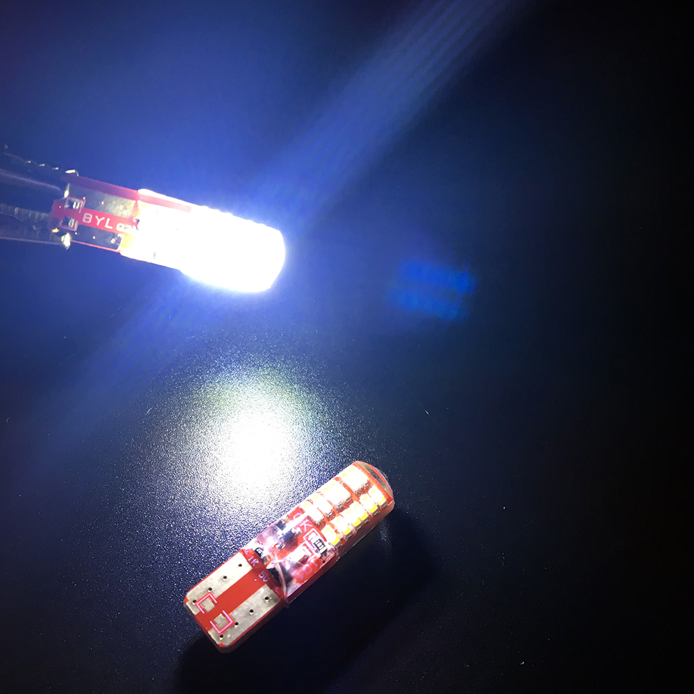 2 PCS T10 PCB Silica Gel 194 168 W5W 3014 24 SMD 24 LED Lateral Luz - Faróis do carro - Foto 4