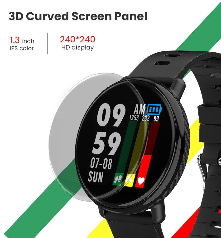 Virtoba A1 Bluetooth Smart Watch Men Women Full Touch Screen Activity Fitness Tracker Heart Rate Monitor 3D UI Smartwatch NEW 2