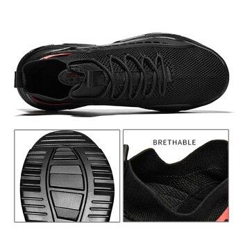 Black Sneakers Men Mesh Breathable Running Shoes 1