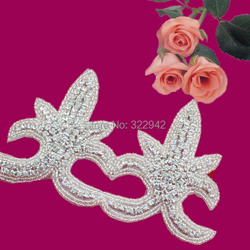 Free Shipping bling Crystal Rhinestone Trimming Appliques For Wedding gown Bridal Belt Sash Decoration