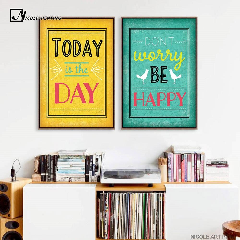 Motivation Zitate Kunst Leinwand Vintage Poster Minimalistischen ...