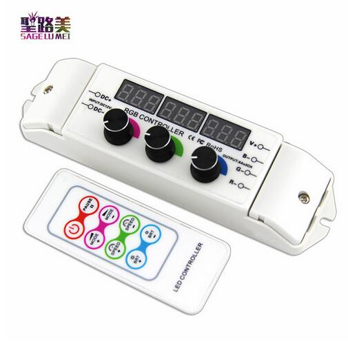 BC-350RF CV RGB Led Controller RF Wireless Remote knob Rotary Switch RGB Strip Dimmer 18A Output For 5050 2835 LED strip lights 2016 new dc12v dc24v led touch round rgb controller 18a 7 keys rf remote controller for 5050 3528 2835 led strip lights
