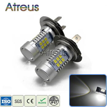 Atreus 2X Car LED H7 9006 1156 1157 H4 H11 21SMD LED Fog Lights DRL 12V with Lens For Chevrolet Cruze Aveo For Opel Astra H J image