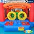PATIO Envío Libre carrera de obstáculos inflables para niños divertidos juguetes para niños para niños Con Ventilador