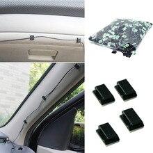 100Pcs/set WCC-2 Car Tie Clips Organizer Drop Adhesive Clamp Wire Cord Auto Fastener Clip Home Cable Holder Automobiles