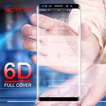 GPNACN 6D Tempered Glass For Samsung Galaxy S8 S9 Plus Glass Screen Protector Film For Samsung Note 8 9 S7 Edge Full Cover Glass(China)