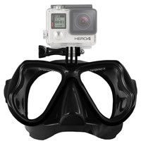 Underwater Diving Mask for Gopro Xiaomi Yi Camera Tempered Dive Glass Scuba Face Mask For Gopro Hero 4 3 Sj4000 Accessories