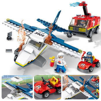 373pcs Children\'s building blocks toy Compatible Legoingly city Fire truck firefighting aircraft figures Bricks birthday gifts - Category 🛒 Toys & Hobbies