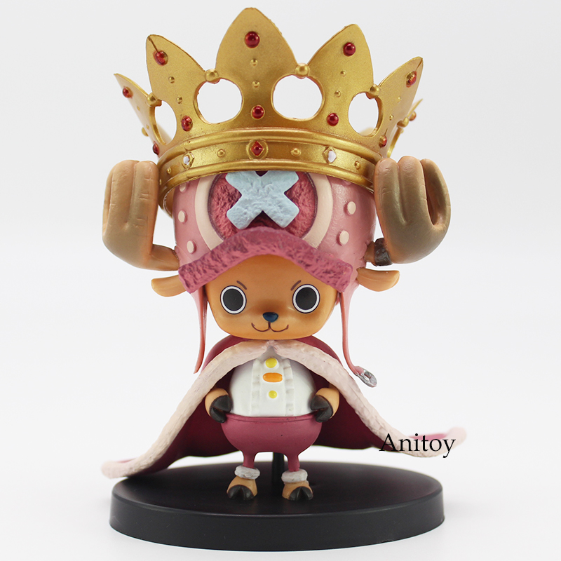 Anime One Piece DXF The Grandline Men The 15th Edition vol.4 Tony Tony Chopper With Crown PVC Figure Collectible Model Toy 8cm 1