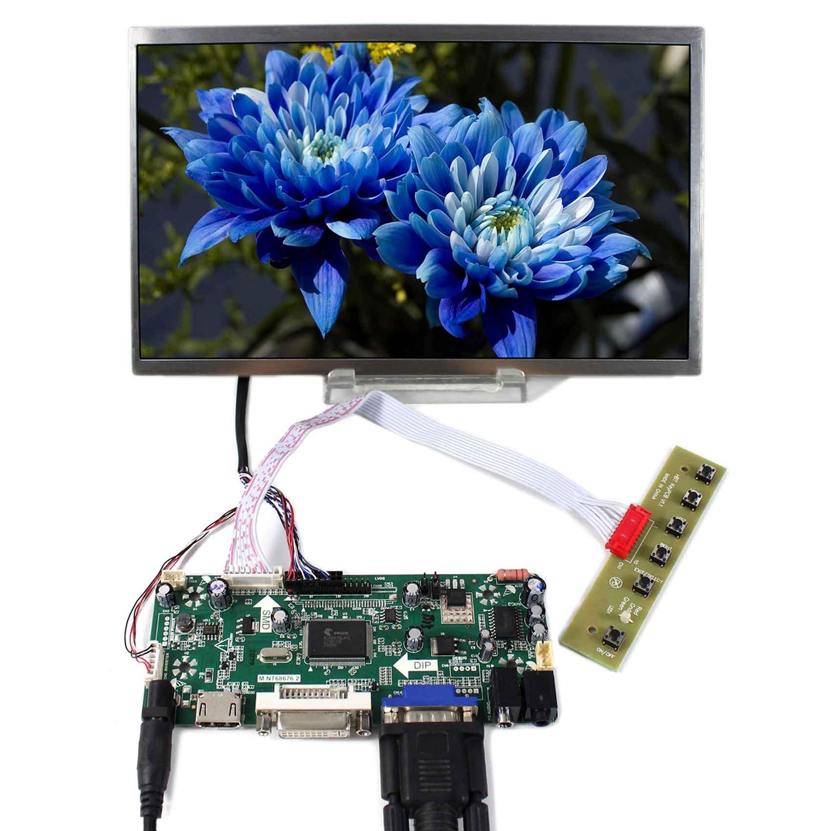 10.1inch 1024x600 HSD101PFW2 B101AW03 BT101IW03 LCD Panel+HDMI LCD Controller Board M.NT6867610.1inch 1024x600 HSD101PFW2 B101AW03 BT101IW03 LCD Panel+HDMI LCD Controller Board M.NT68676