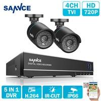 SANNCE 4CH 960H HDMI DVR 800TVL Outdoor IR CUT Cameras CCTV Security System 1TB