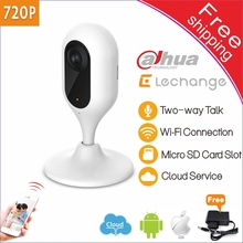 Free shipping Dahua Wifi IP Camera Lechange 1MP 무선 Cloud storage Local storage 보안 cctv camera HD 720 마력 P2P ip camera