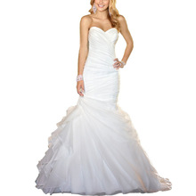 Backlackgirl Pattern Strapless Sleeveless Wedding Dress