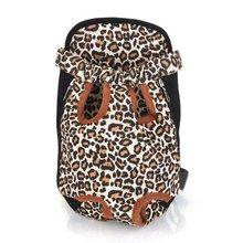 Оптовая 10 * Тип Изменение Передняя Перевозчик Рюкзак Размер XL Холст для собак leopard