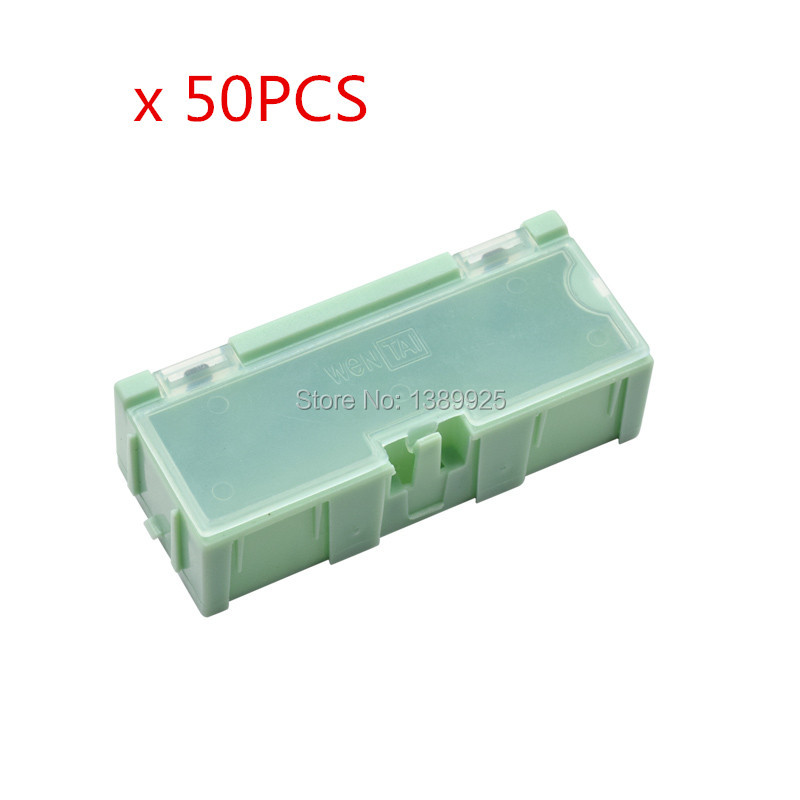 50PCS lot 2 Green Color Capacitor Resistor SMT Electronic Component Mini Storage box Practical Jewelry Storaged