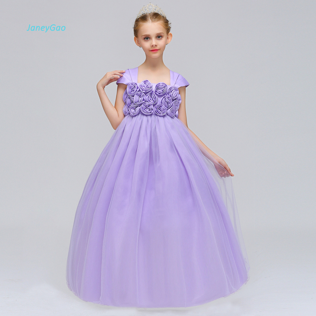 Janeygao Flower Girl Dress For Wedding Party Teenage Formal Dress