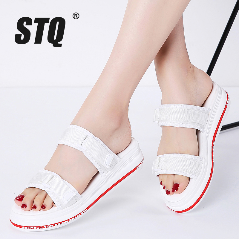 STQ Strap Sandals Wedges Platform Shoes Women High-Heels 6902