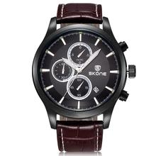 2016 New Arrival SKONE Brand Men s Watches Genuine Leather Watch Fashion Casual Wristwatch