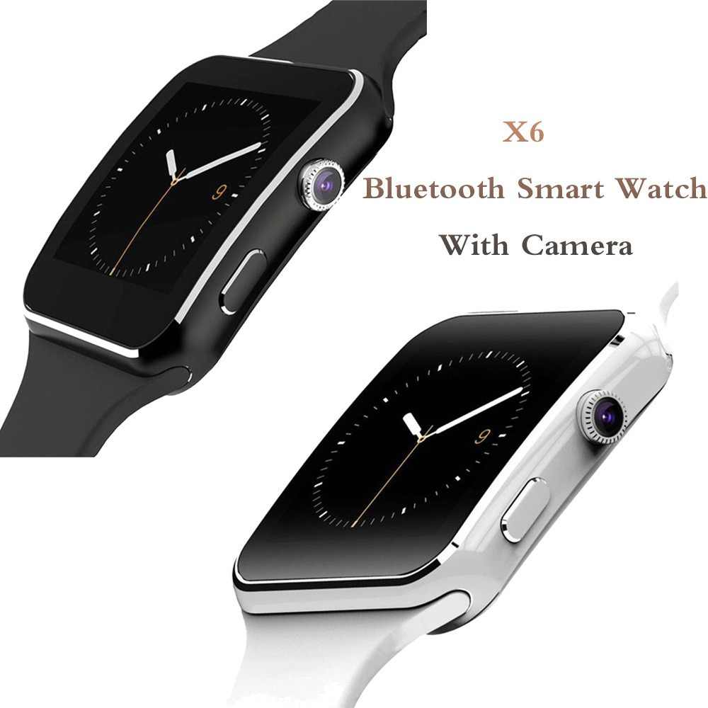 X6 Bluetooth Smart Watch With Camera For Men Women Sport Bracelet Touch Screen Support SIM TF Card Wristband For Mobile Phone