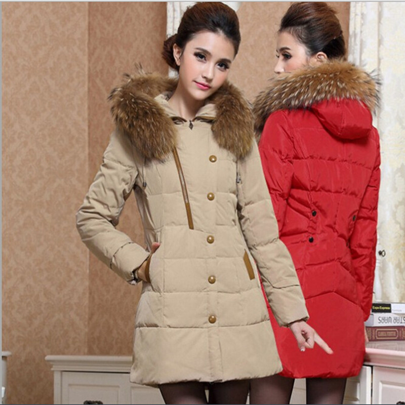 Women Parkas 2017 New Fashion Hooded Coat Winter Jacket Women Parka Long Thicken Wadded Down Outwear  Abrigos Y Chaquetas H198 2017 new wadded parka thick floral jackets women winter coat jacket abrigos mujer big size long over knee hooded outwear c2283