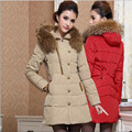 Women Parkas 2017 New Fashion Hooded Coat Winter Jacket Women Parka Long Thicken Wadded Down Outwear  Abrigos Y Chaquetas H198