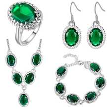 цена на Thick silver jewelry set speed sell through the explosion of the United States and the United States and foreign trade jewelry w