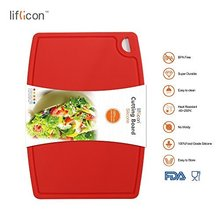 Liflicon Durable Silicone Cutting Board Veggie Cut Prep Nonslip Flexible Thick Chopping Boards Antimicrobial