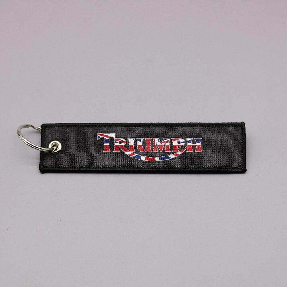 Новая мода Вышивка брелок держатель Триумф коллекция брелок для Triumph Daytona все мотоцикл Вышитые Знак Брелок
