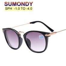 SUMONDY Diopter -1.0 to -4.0 Prescription Sunglasses For Myopia Men Women Fashio
