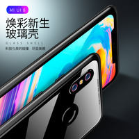 Luphie Magnetic Case for Xiaomi 8 Luxury Metal Magnet Bumper Phone Tempered Glass Back Adsorption Flip Cover for xiaomi8 mi8