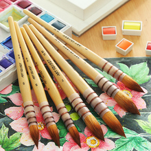 Buy 1Piece Nylon Hair Water Color Paint Brush Professional Pointed Artist Painting Brushes Acrylic Brushes Art Supplies 15RT directly from merchant!