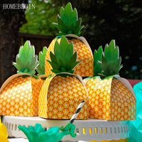 HOMEBEGIN 50Pcs Wedding Favors Gift Candy Boxes Paper Pineapple Gift Bag Beach Wedding Decorations Home Party Birthday Supplies