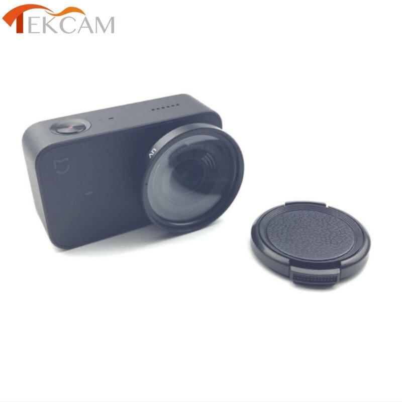Tekcam Cámara de Acción UV/CPL filtro de la lente + lente tapa protectora para Xiaomi Mijia Mini 4 k Cámara de Acción