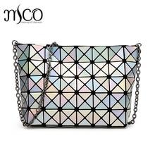 Sommer Japan Stil Luxus Holographische Bao Frauen Umhängetasche Geometrie Platin Cube Falten Crossbody Tasche Lucent Messenger Bags