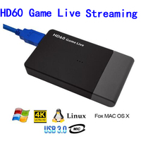 UVC HDMI Video Capture Card USB 3.0 Mic,HD 1080P 60fps Game Video Recorder for WiiU PS4 Xbox 360 Xbox one Live Streaming