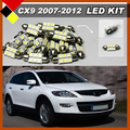 Car Interior Step Courtesy License Plate Dome Map Trunk Lights Automotive LED Kit Package Lamps White For CX-9 2007-2012