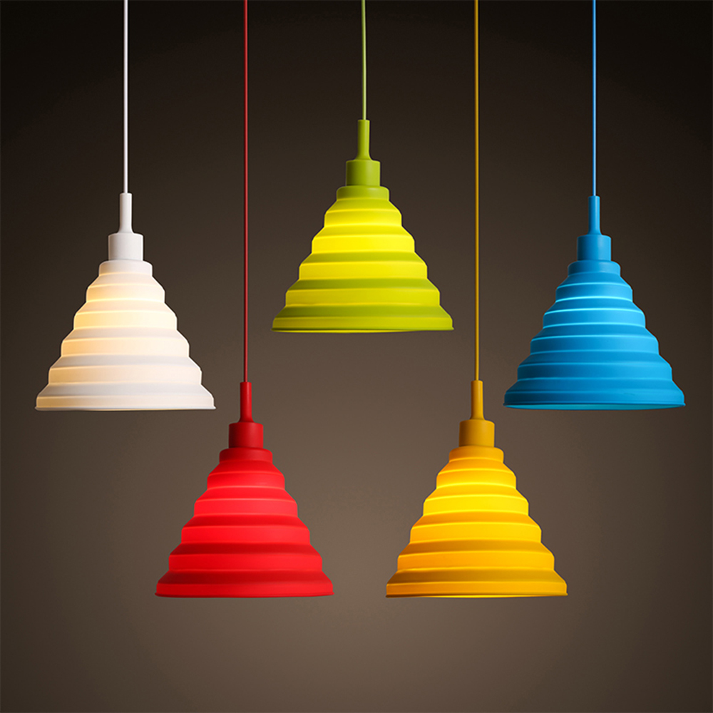 E27 Base Plastic Pendant Lights Indoor Decor Pendant Lighting Colorful Home  Wire Flexible Shape Silica Gel Hanging Ceiling Lamp-in Pendant Lights from  ...