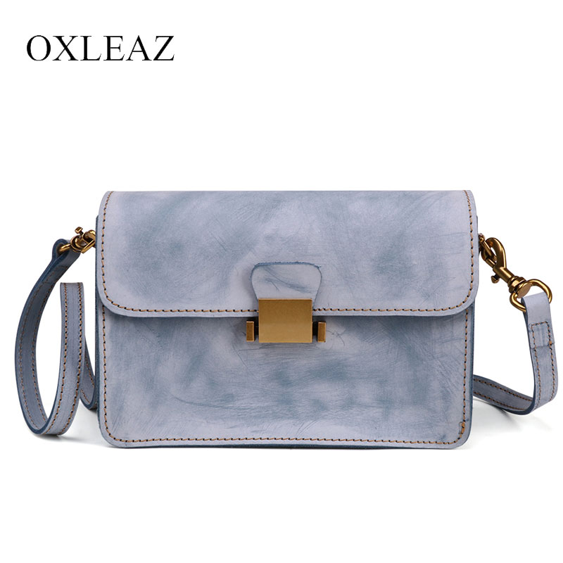 OXLEAZ Fashion Mini Ladies Hand Bags Genuine Leather Sling Bag Flap Shoulder Messenger Bag Small Crossbody Bags for Women women bags handbag female tote crossbody over shoulder sling leather messenger small flap patent high quality fashion ladies bag