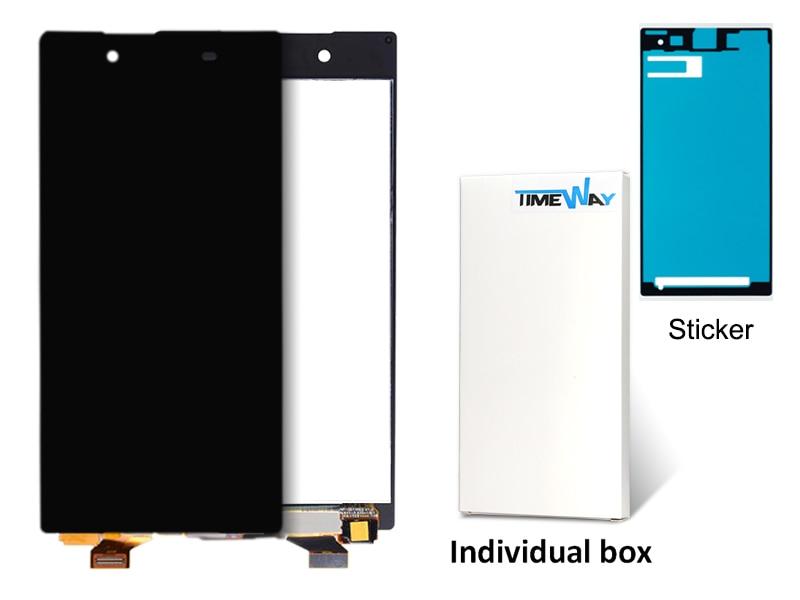 imágenes para 2 unids negro/blanco nueva pantalla lcd táctil digitalizador asamblea reemplazo para sony xperia z5 e6683 e6653 envío gratis