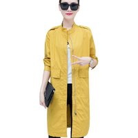 Long Red Trench Coat Women 2019 Spring Autumn New Korean Fashion Thin Womens Windbreaker Wild Loose Ladies Coat Casual Outerwear