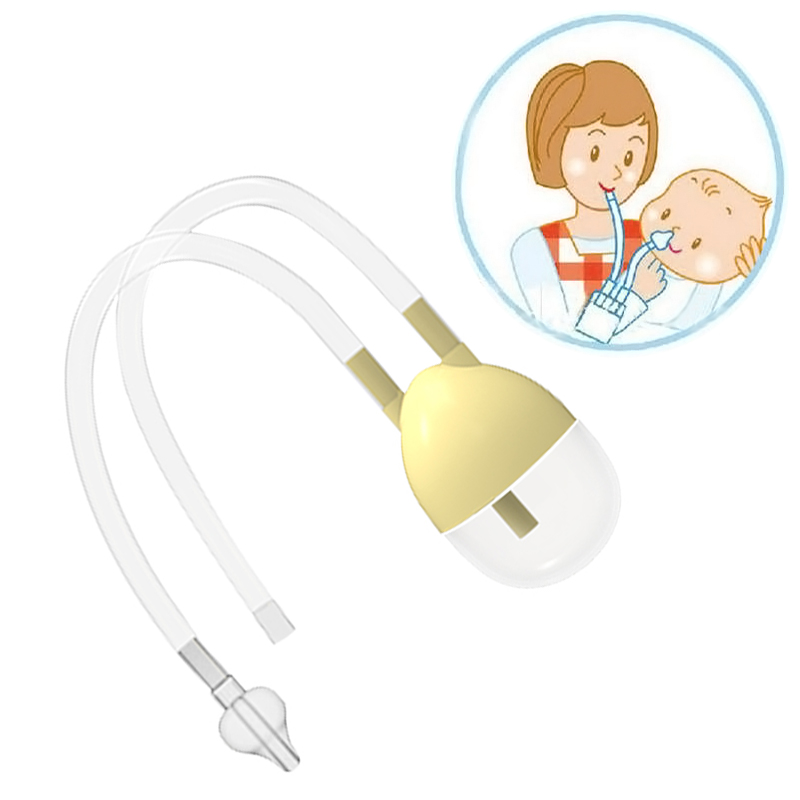 New Born Baby Safety Nose Cleaner Vacuum Suction Nasal Aspirator <font><b>Bodyguard</b></font> Flu Protection Accessories BM image