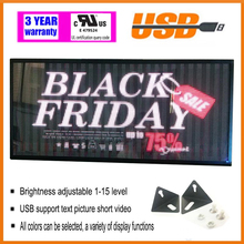 indoor full color LED display 1000X360mm scrolling text LED screen  USB Programmable Advertising LED Display Sign Board