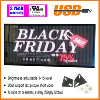 indoor full color LED display 1000X360mm scrolling text LED screen USB Programmable shop advertising LED Display Sign Board