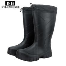 New Winter Mens Mid Calf Rubber Rain boots fishing hunting wear boots waterproof outdoor Waders  Rain Boot