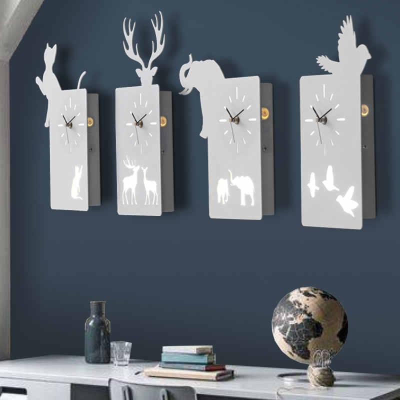 Cat Bird Deer Wall Clock