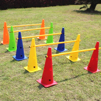48CM flag with a hole barrel obstructions football training hurdle small hurdle agility hurdles and adjustable height